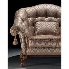 Elegant Sparkling Champagne Armchair from our European hand painted furniture collection. 7215
