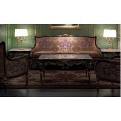Deluxe Sofa Set with Plum Floral Detailing from our European hand painted furniture collection. 7219