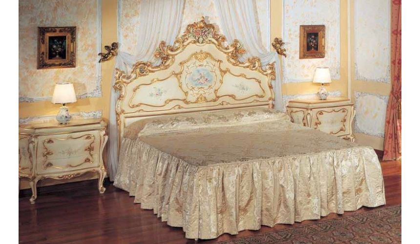 Luxury Bedroom Furniture Heavenly Golden Clouds Bed Set from our European hand painted furniture collection. 7224