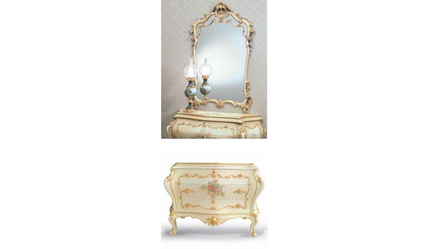 Chest of Drawers Lovely Floral Chest of Drawers and Mirror from our European hand painted furniture collection. 7225