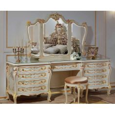 Floral Dressing Table with Triple Mirror from our European hand painted furniture collection. 7227