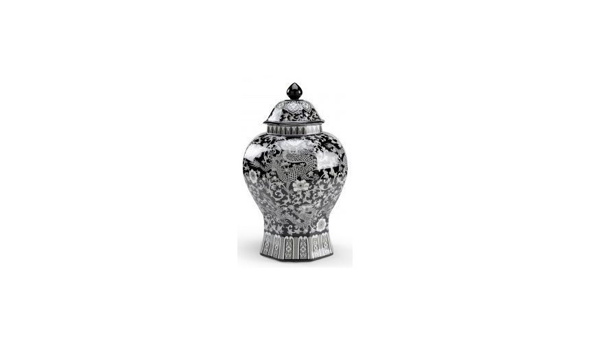 Decorative Accessories Octagon Dragon Decorative Urn