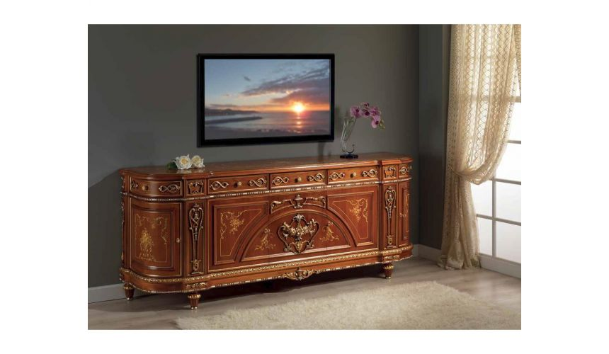 Entertainment Centers, TV Consoles, Pop Ups High End Classic Wooden Side Board from our European hand painted furniture colle...