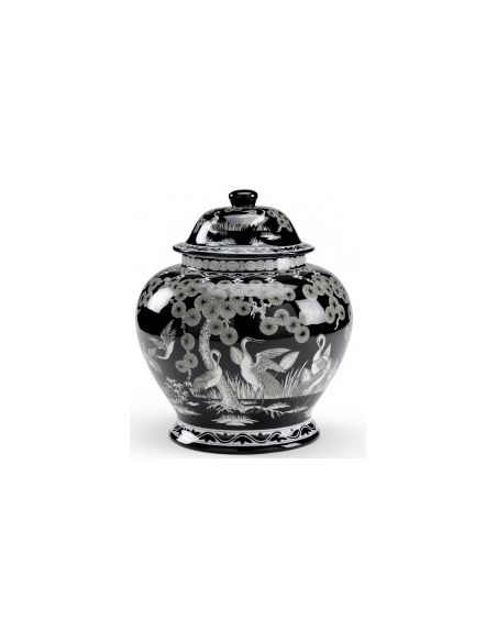 Decorative Accessories Pine Design Porcelain Urn