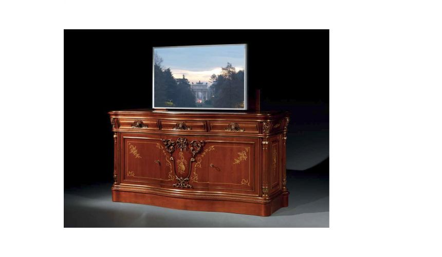 Entertainment Centers, TV Consoles, Pop Ups High End Wooden TV Unit from our European hand painted furniture collection. 7238