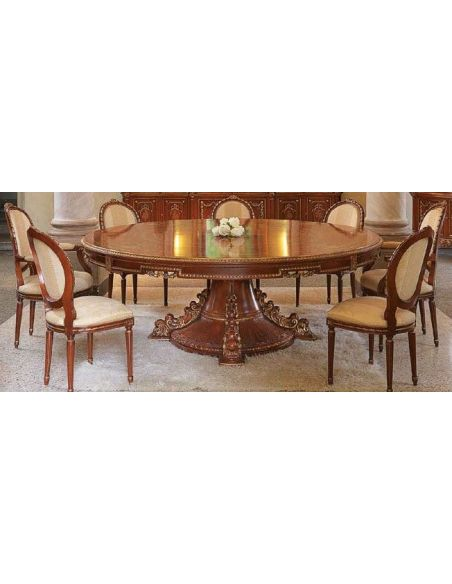 Dining Tables High End Classic Round Table Dining Set from our European hand painted furniture collection. 7240