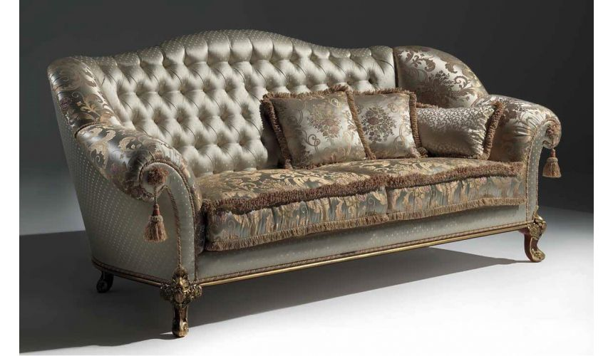 SOFA, COUCH & LOVESEAT Palatial Golden Champagne Sofa from our European hand painted furniture collection. 7242