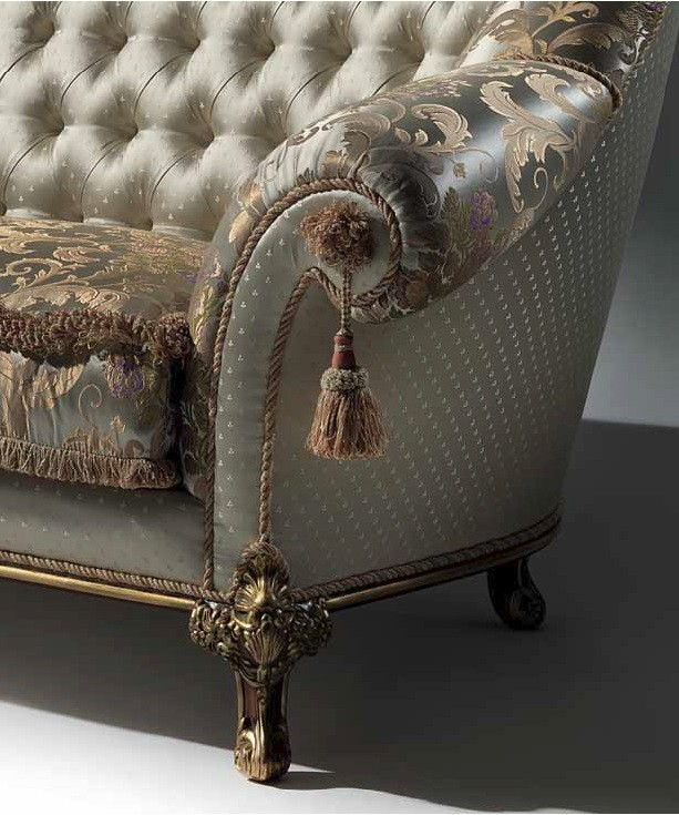 Palatial Golden Champagne Sofa From Our European Hand