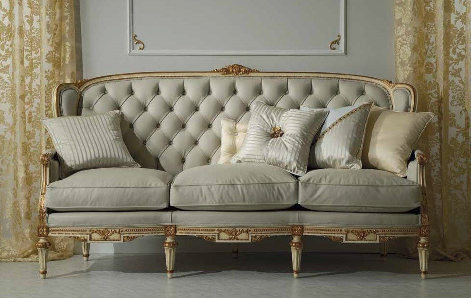 High End And Sophisticated Ivory Sofa Set From Our European Hand Painted Furniture Collection 7243