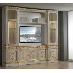 Angelic Cream and Golden TV Unit from our European hand painted furniture collection. 7250