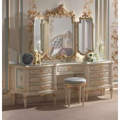 Winter Frost Dressing Table with Mirror from our European hand painted furniture collection. 7274