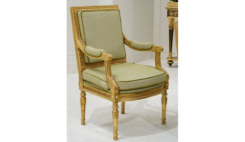 Dining Chairs Gorgeous Golden Green Chair from our furniture showpiece collection.