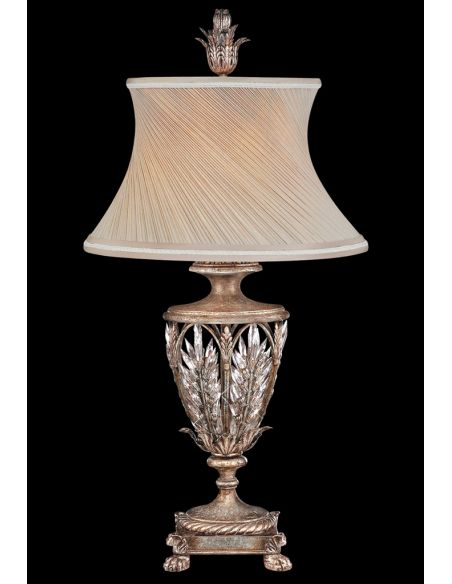 Lighting Large lantern of steel in warm antiqued silver finish