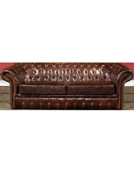 SOFA, COUCH & LOVESEAT Tufted Leather Sofa
