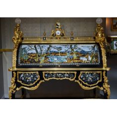 Artist Rendition of Nature Inlaid Drop Front Desk from our furniture showpiece collection. 7317