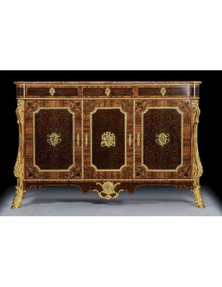 Breakfronts & China Cabinets Luxurious Wooden Cabinet with Golden Detailing from our furniture showpiece collection. 7325