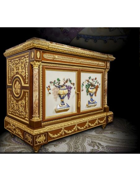 Breakfronts & China Cabinets Stunning Louis XVI Style Entrace Unit from our furniture showpiece collection. 7330