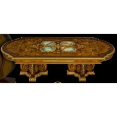 Dining Table with Detailed Images and Golden Patterns from our furniture showpiece collection. 7333