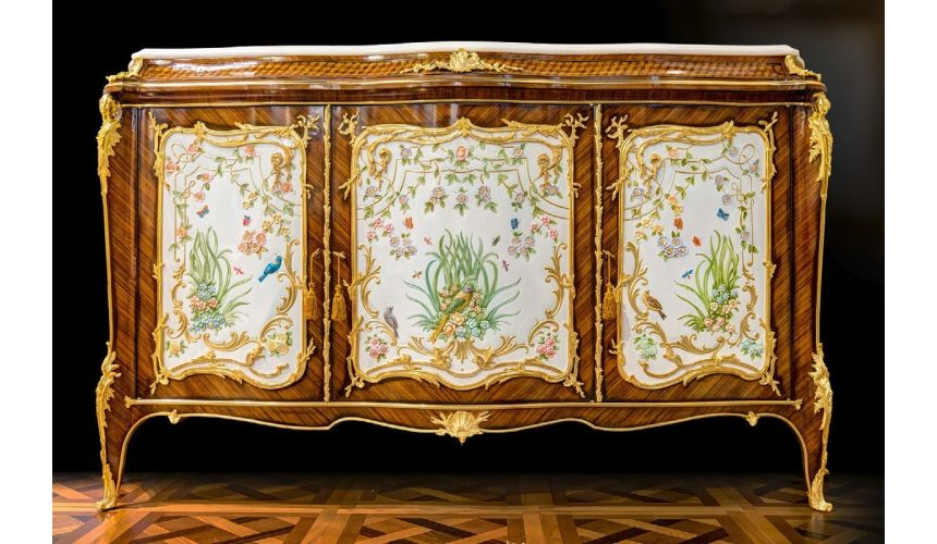 Breakfronts & China Cabinets Lovely Light Birds of Spring Entrace Dresser from our furniture showpiece collection. 7340