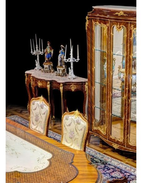Foyer and Center Tables Elegant Louis XV Style Trolley Consolle from our furniture showpiece collection. 7341