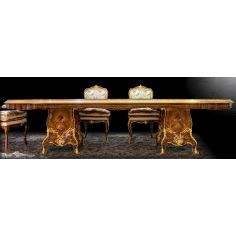 Gorgeously Patterned Rosewood Dining Table from our furniture showpiece collection. 7342