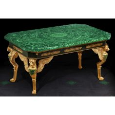 Gorgeous Emerald Empire Style Table from our furniture showpiece collection. 7343