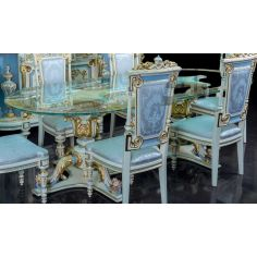Elegantly Detailed Looking Glass Dining Table from our furniture showpiece collection. 7345