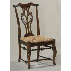 Camden Passage Finished Side Chair with Abaca Rope Rush Seat
