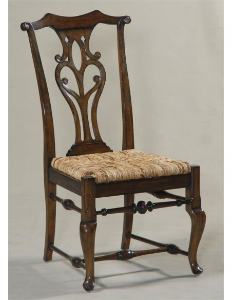Dining Chairs Camden Passage Finished Side Chair with Abaca Rope Rush Seat