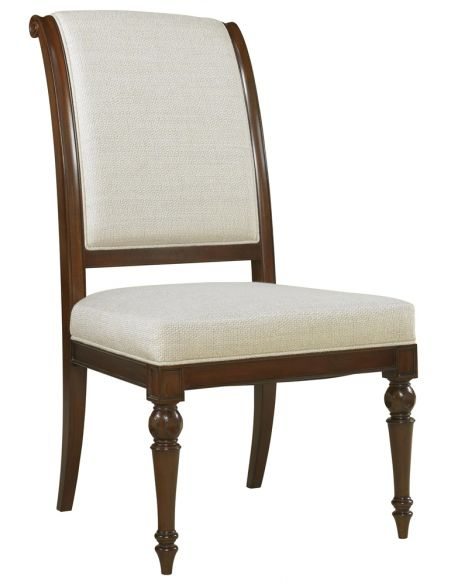Dining Chairs Knightsbridge Finished Side Chair, Snow Fabric Upholstery