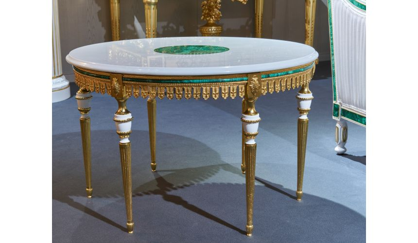 Round and Oval Coffee tables Heavenly Emerald Accented Side Table from our furniture showpiece collection. 7364