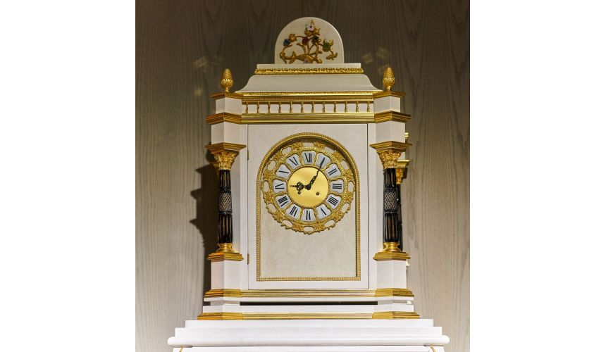 Floor Clocks Luxurious Golden Angelic Grandfather Clock from our furniture showpiece collection. 7370