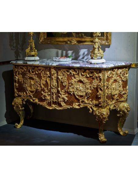 Breakfronts & China Cabinets Luxurious Golden Detailed Writing Desk from our furniture showpiece collection. 7373