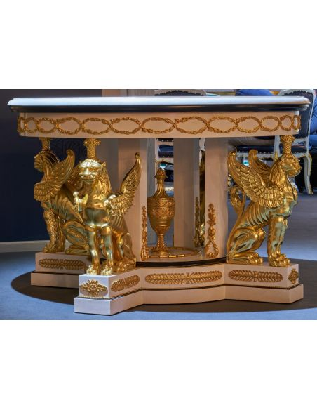 Furniture Masterpieces Luxurious Marble and Wood Center Table from our furniture showpiece collection. 7321