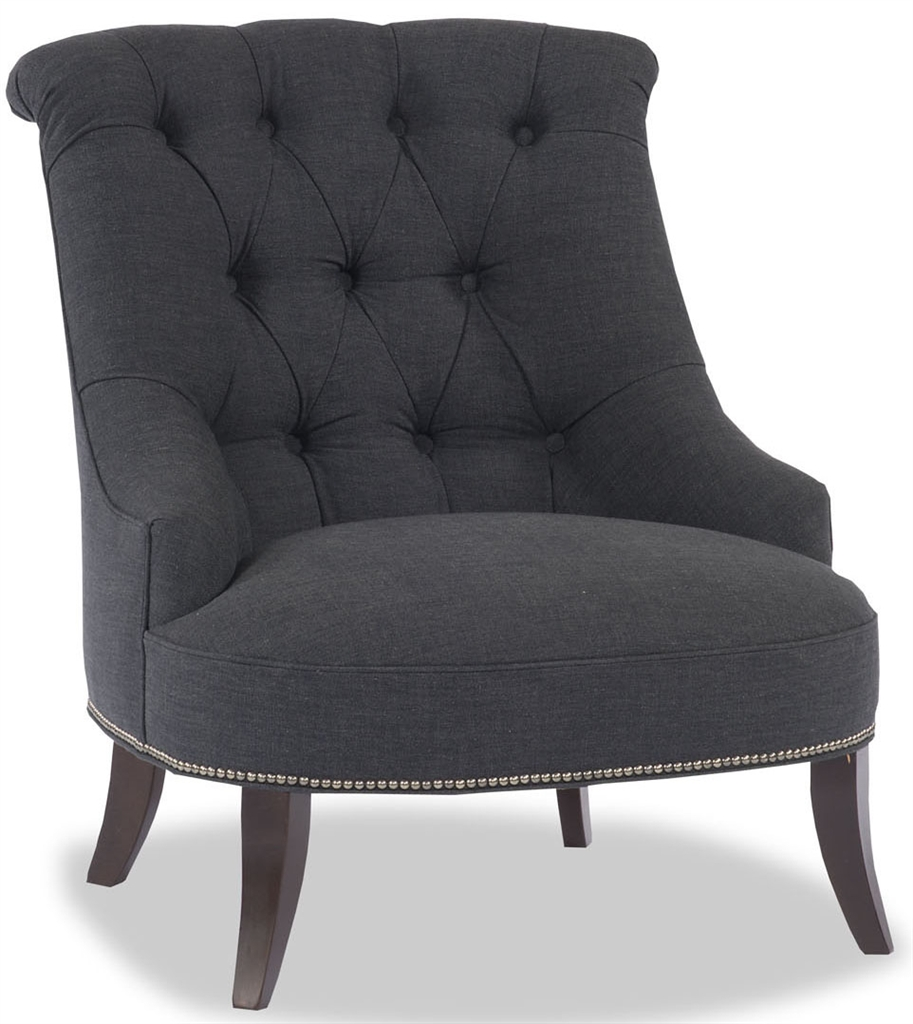 Navy tufted accent chair Tufted accent chair