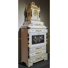 Deluxe White and Black Cabinet with Tropical Detailing from our furniture showpiece collection. 7367