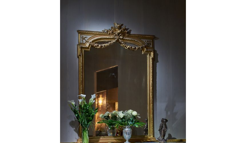 Furniture Masterpieces Luxuriously Detailed Golden Mirror from our furniture showpiece collection. 7352