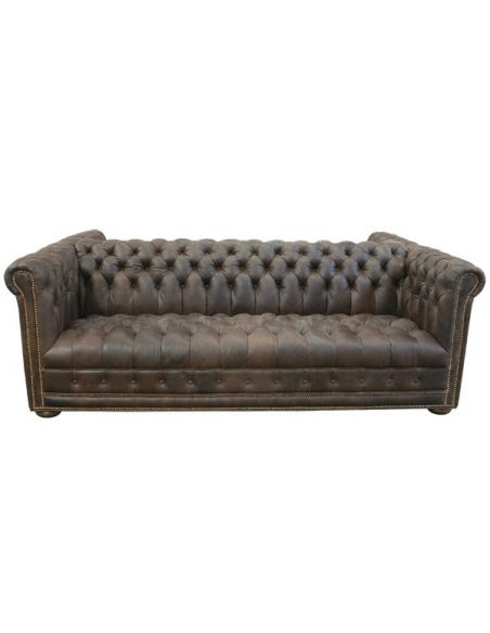 Western Furniture High End Rustic Cowboy Sofa from our handcrafted Wild West furniture collection. 7379