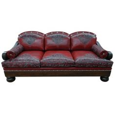 Deluxe Rose at Dusk Sofa from our handcrafted Wild West furniture collection. 7380