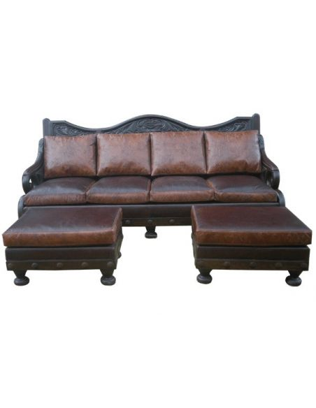 Western Furniture Deluxe Texas Styled Mateo Sofa from our hand crafted Wild West furniture collection. 7381
