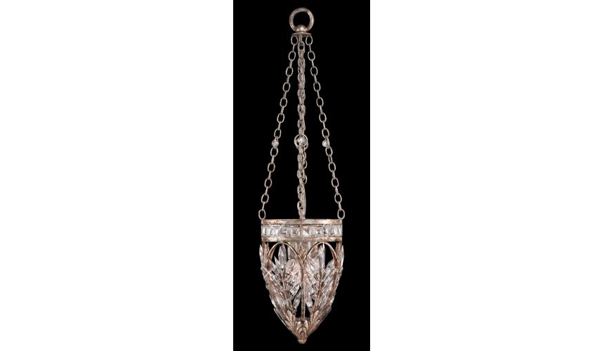 Lighting Pendant of steel in warm antiqued silver finish