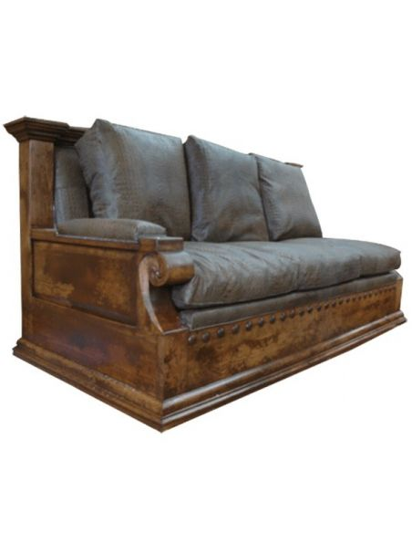 Western Furniture High End Rustic Desert's First Rain Sofa from our handcrafted Wild West furniture collection. 7382