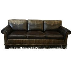 Gorgeous and Dark Western Styled Sofa from our handcrafted Wild West furniture collection. 7387