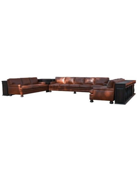 SECTIONALS - Leather & High End Upholstered Furniture High End Adobe Giant Living Room Set from our handcrafted Wild West fur...