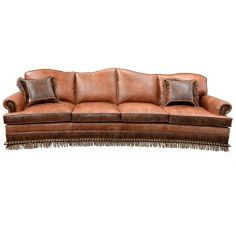 High End Rustic Orange Desert Sands Sofa from our handcrafted Wild West furniture collection. 7391