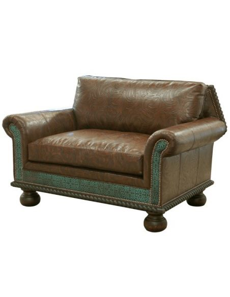 Western Furniture Beautifully Patterned River Bank Sofa from our handcrafted Wild West furniture collection. 7392