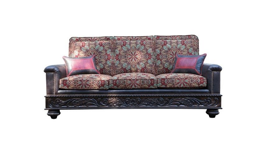 Western Furniture Deluxe Garden of the Desert Sofa from our handcrafted Wild West furniture collection. 7393
