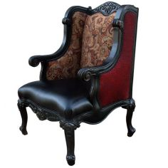 Elegant Western Nightfall Wingback Chair from our handcrafted Wild West furniture collection. 7396