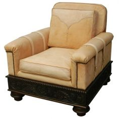 High End Rustic Styled Daffodil Armchair from our handcrafted Wild West furniture collection. 7398