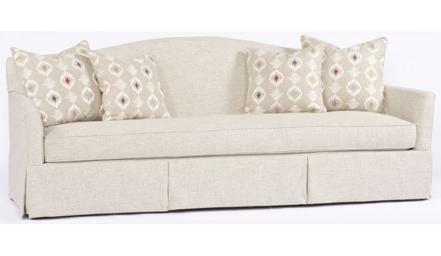 SOFA, COUCH & LOVESEAT White Rounded Back Sofa